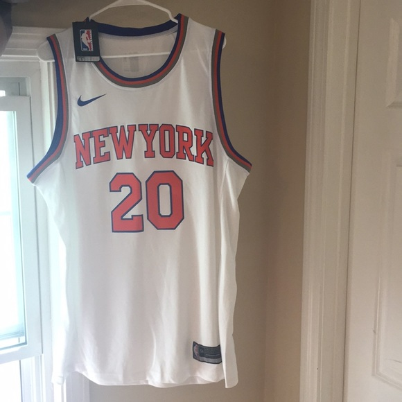 pretty nice 07361 4479e White/blue/orange New York Knicks Authentic Jersey NWT